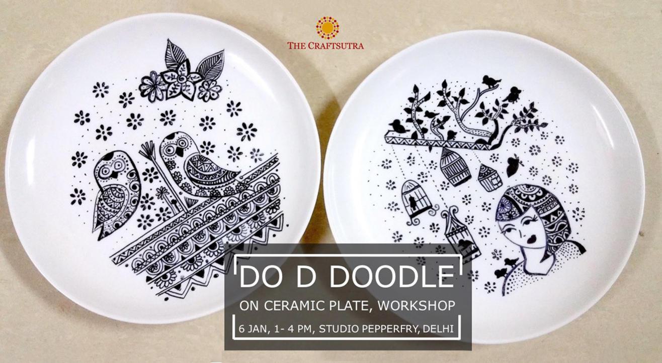 Do D Doodle on Ceramic Plate Workshop
