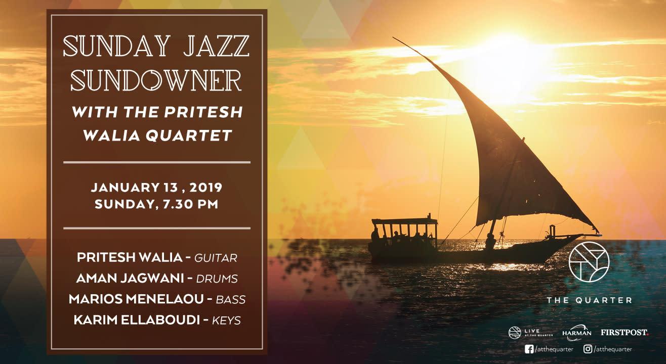 Sunday Jazz Sundowner with the Pritesh Walia Quartet