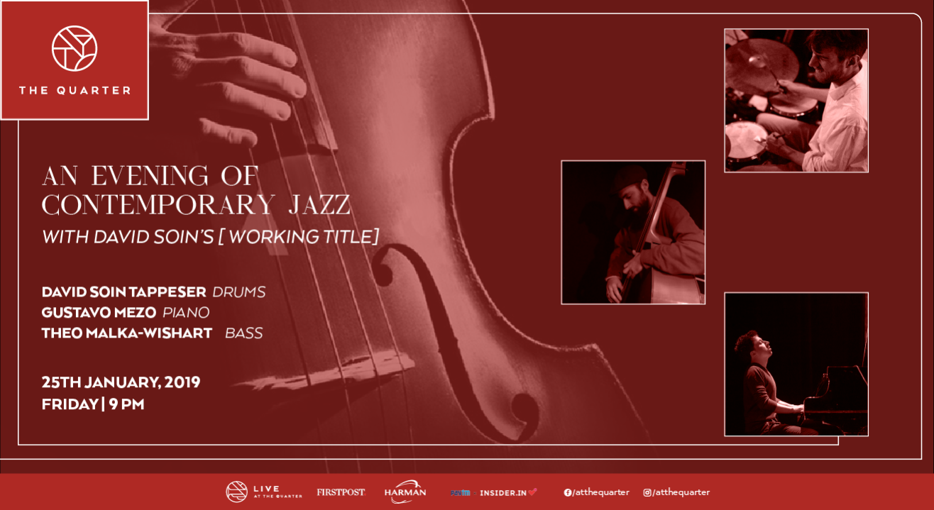 An Evening of Contemporary Jazz with David Soin at The Quarter