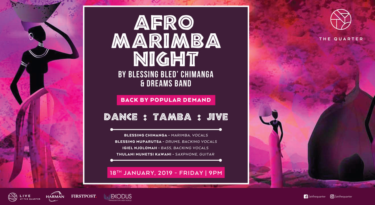 Afro Marimba Night with Blessing Bled Chimanga and The Dreams Band at The Quarter