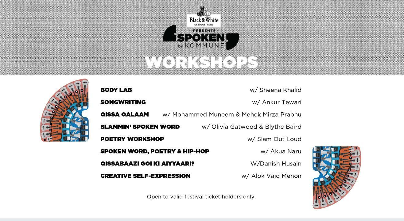 Spoken Fest, 2019 - Workshops