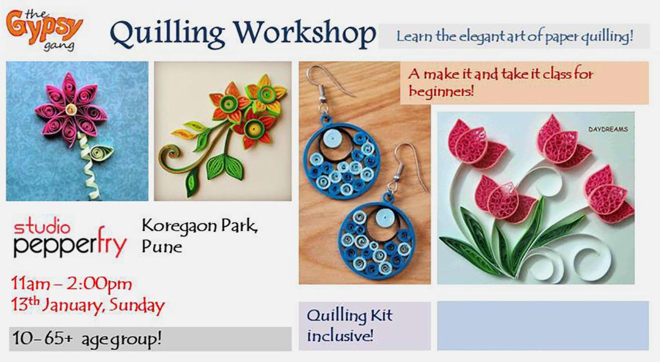 Quilling Paper Craft Workshop