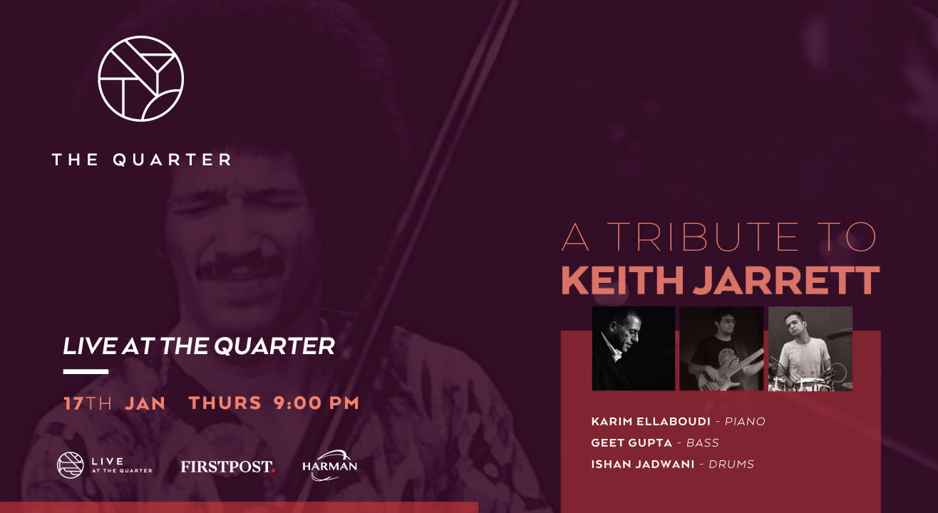 A Tribute to Keith Jarrett at The Quarter