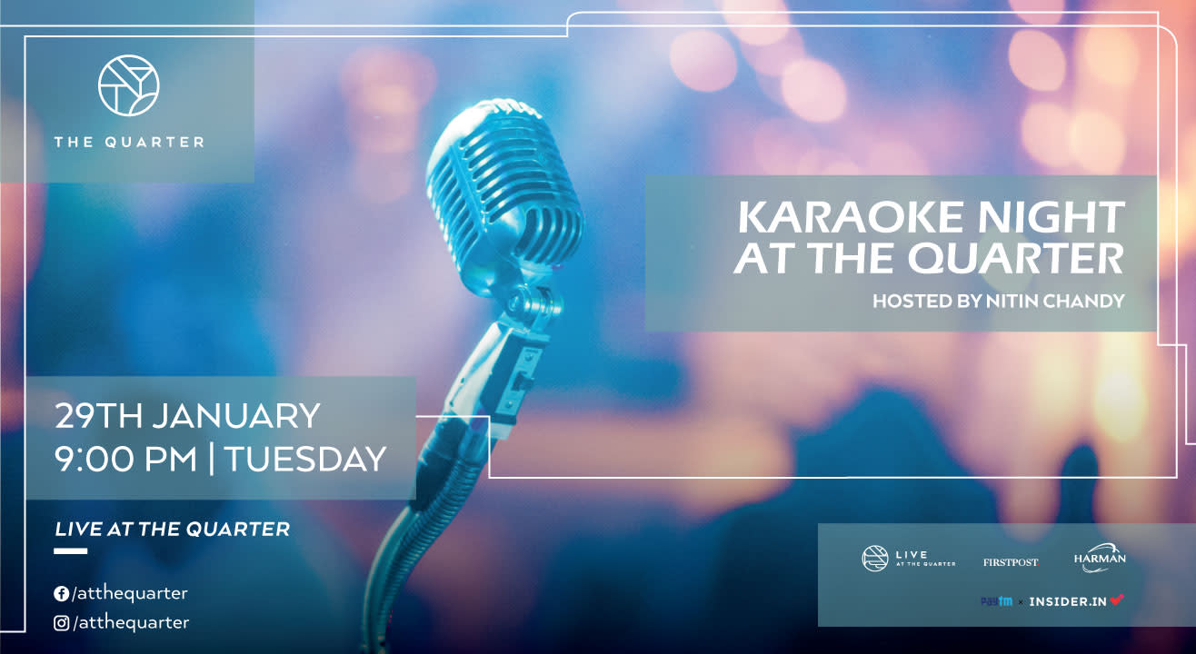 Karaoke Night with Nitin Chandy at the Quarter