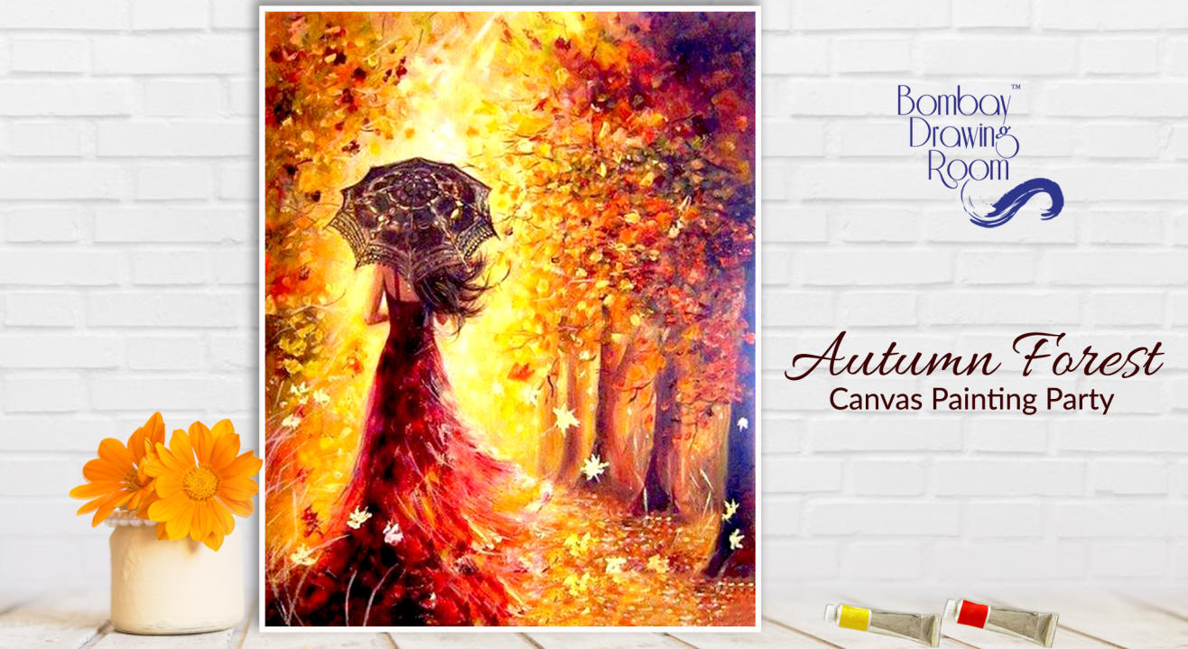 Autumn Forest Canvas Painting Party by Bombay Drawing Room