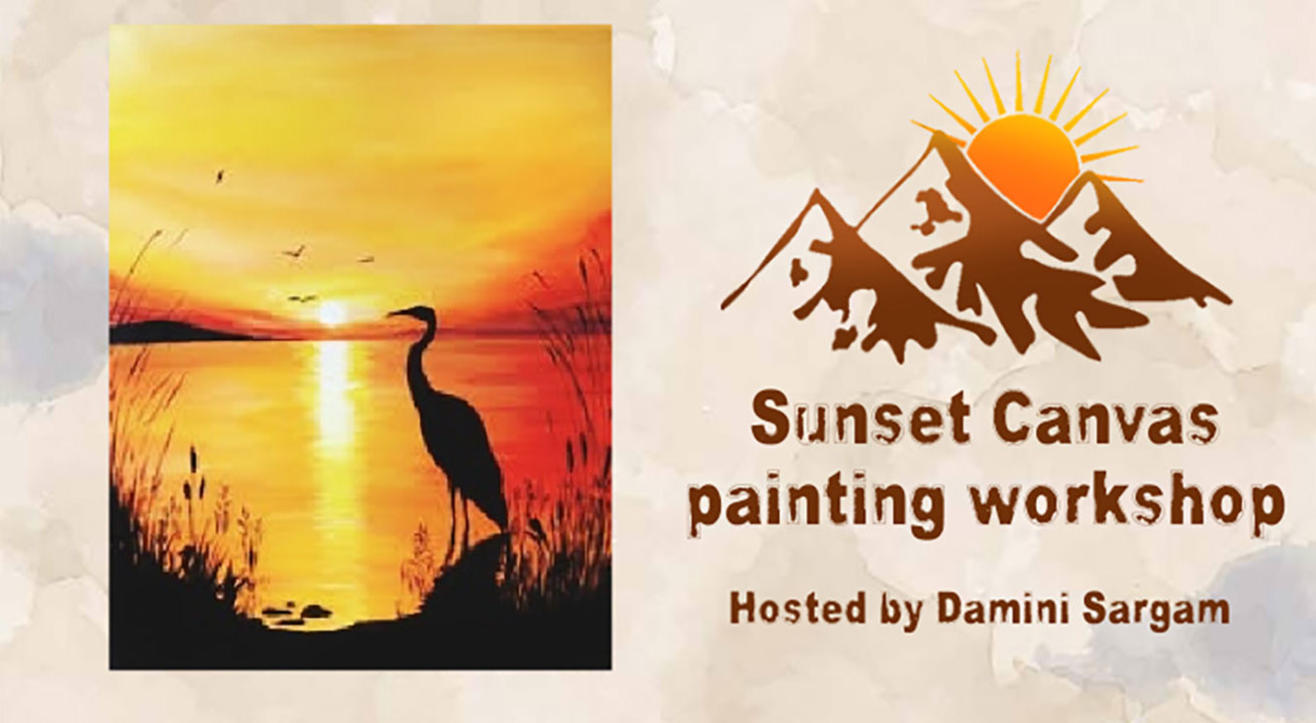 Sunset Canvas Painting Workshop with Damini Sargam