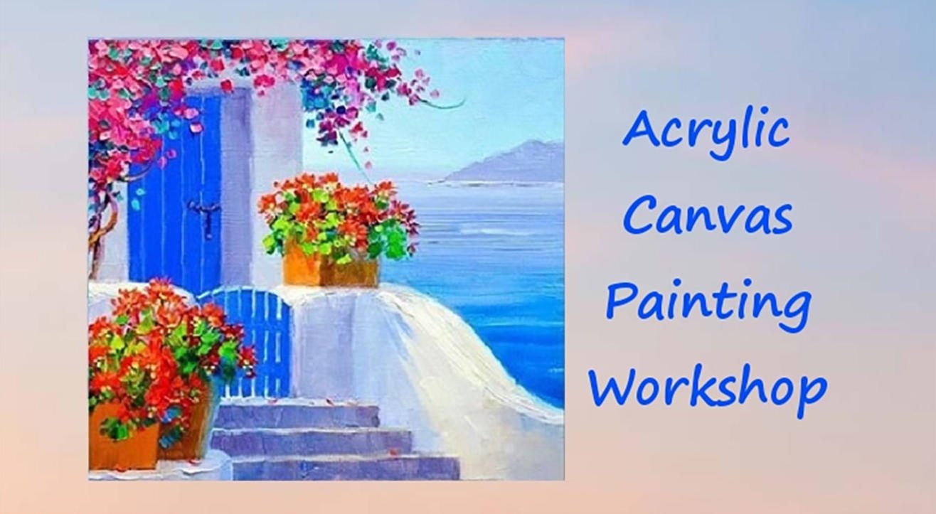 The Beautiful City of Greece Canvas Painting Party with Damini Sargam