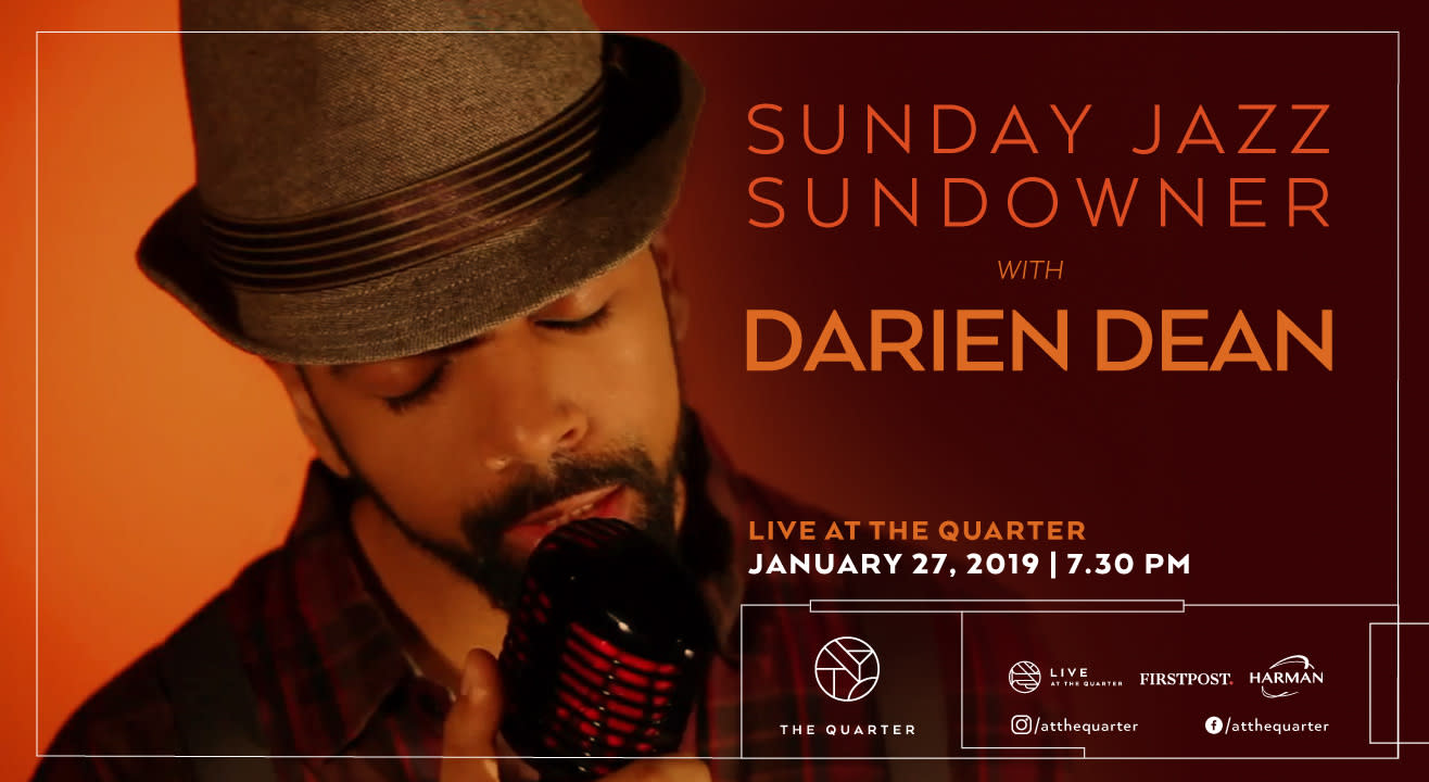 Sunday Jazz Sundowner with Darien Dean at The Quarter
