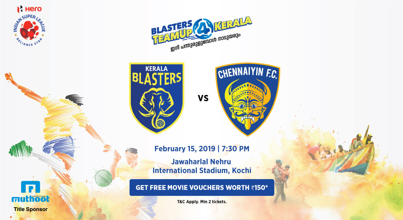 HERO Indian Super League 2018-19: Kerala Blasters FC vs Chennaiyin FC