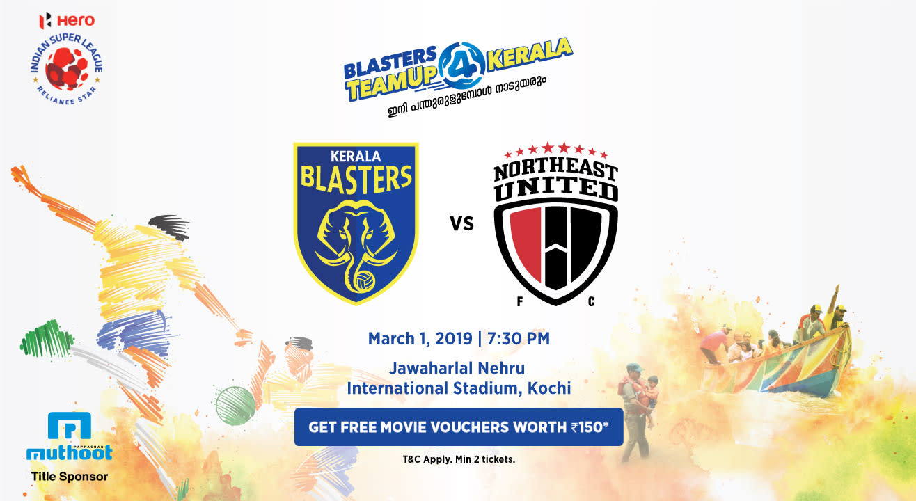 HERO Indian Super League 2018-19: Kerala Blasters FC vs NorthEast United FC
