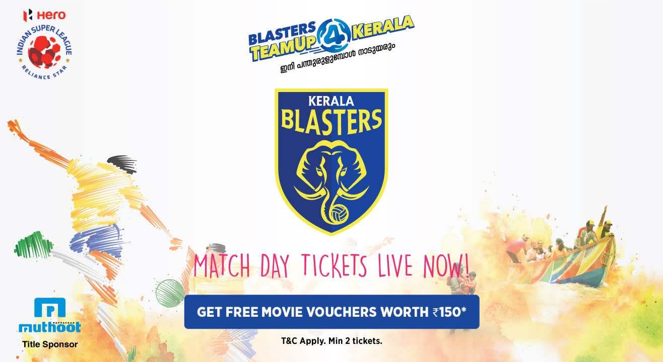 Indian Super League 2018-2019: Kerala Blasters FC: Match Tickets, Ticket Offers, Schedule & More