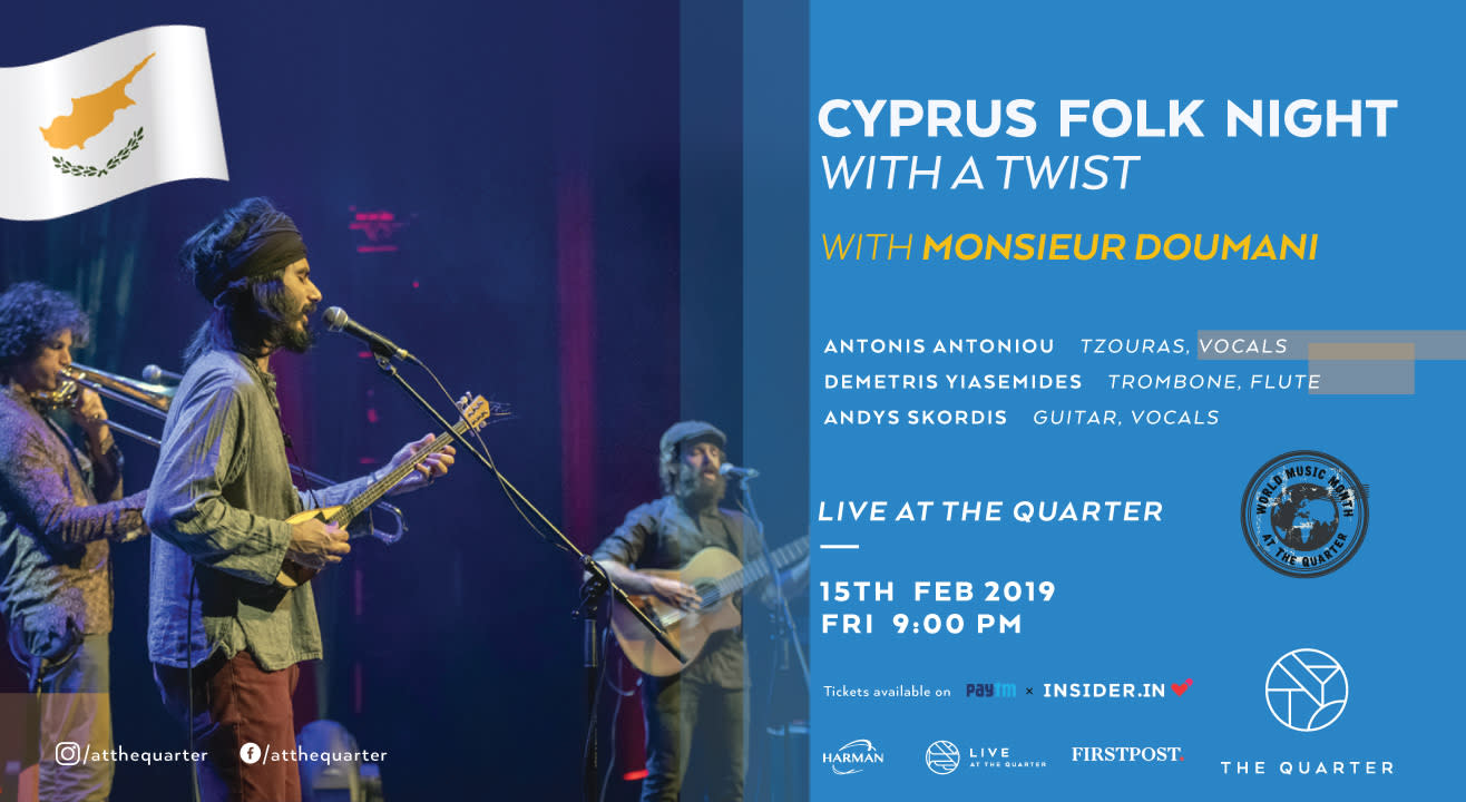 Cyprus Folk Night with Monsieur Doumani at The Quarter