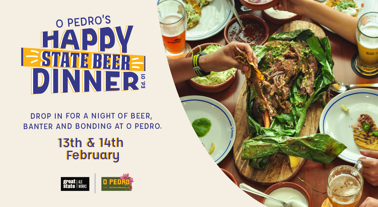 O Pedro's Happy State Beer Dinner | Edition One
