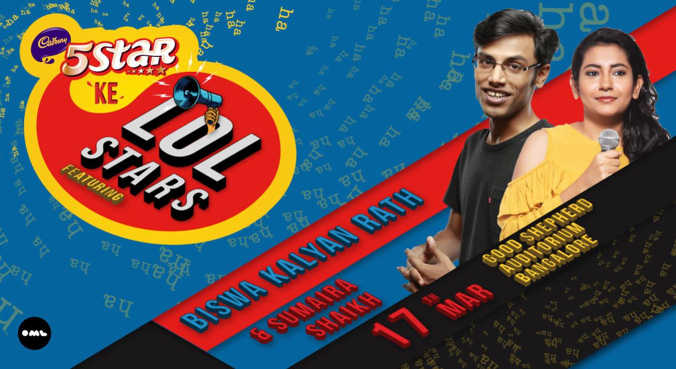 5 Star Ke LOLStars ft Biswa Kalyan Rath and Sumaira Shaikh, Bangalore