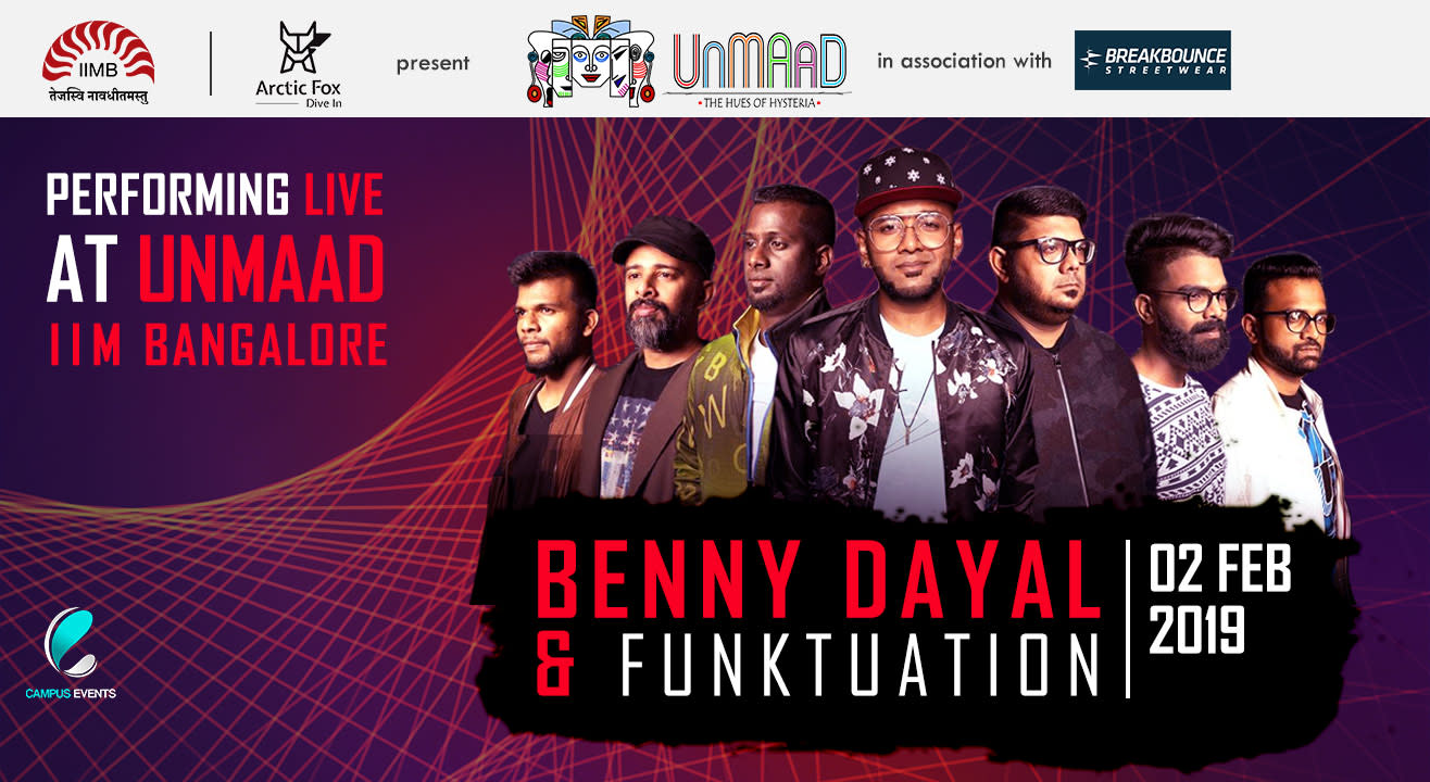 Benny Dayal and Funktuation Live @ Launchpad in Unmaad'19
