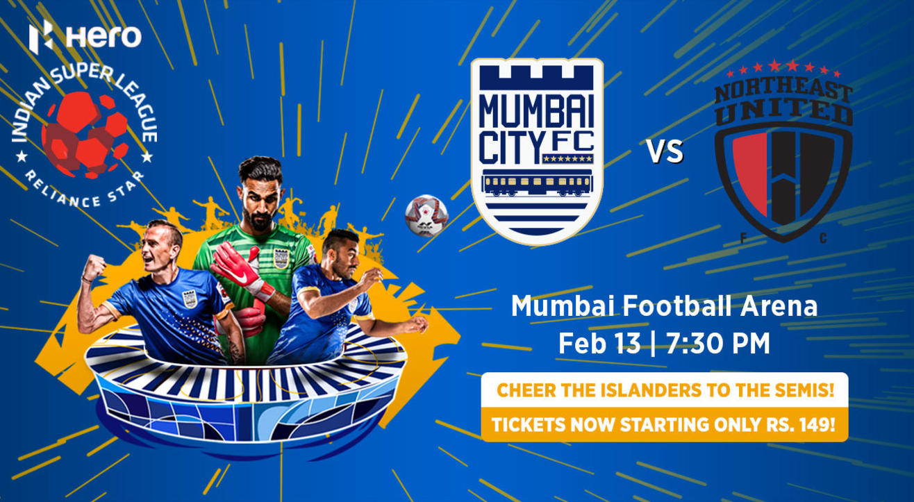 Hero Indian Super League 2018-19: Mumbai City FC vs Northeast United FC
