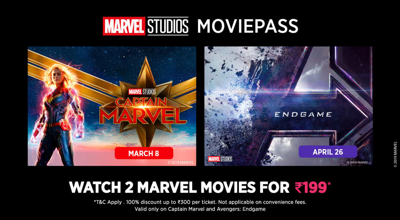 Get discounts and great offers to Marvel movies using the Marvel