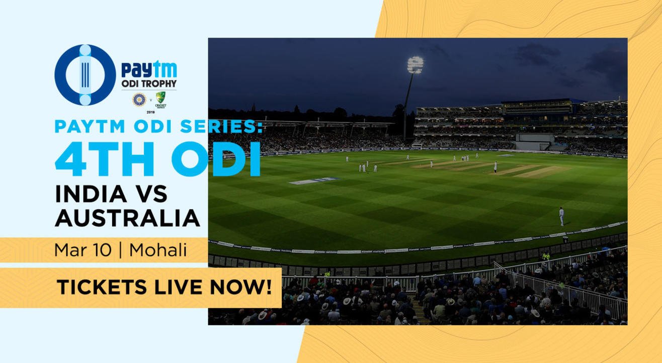 Paytm ODI Series: 4th ODI India v Australia, Mohali