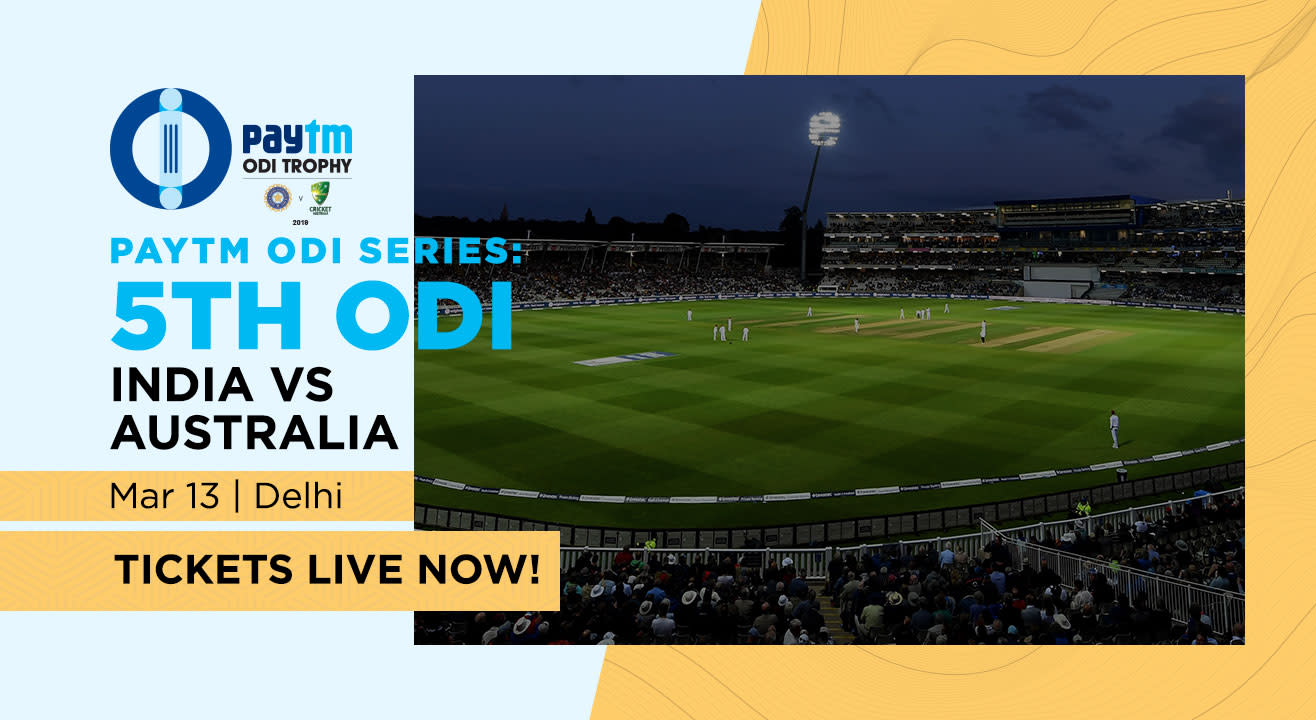 Paytm ODI Series: 5th ODI India V Australia, Delhi