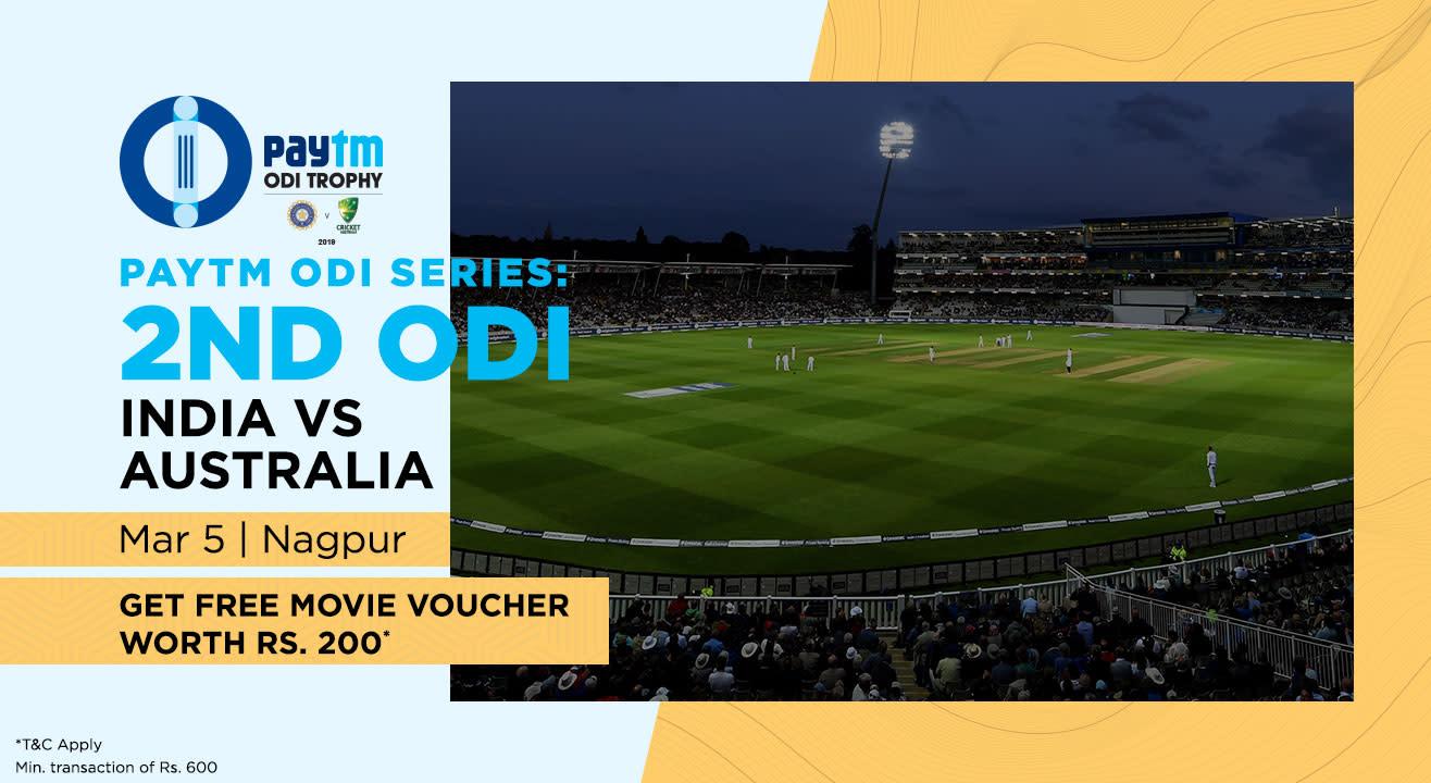 Paytm ODI Series: 2nd ODI India v Australia, Nagpur