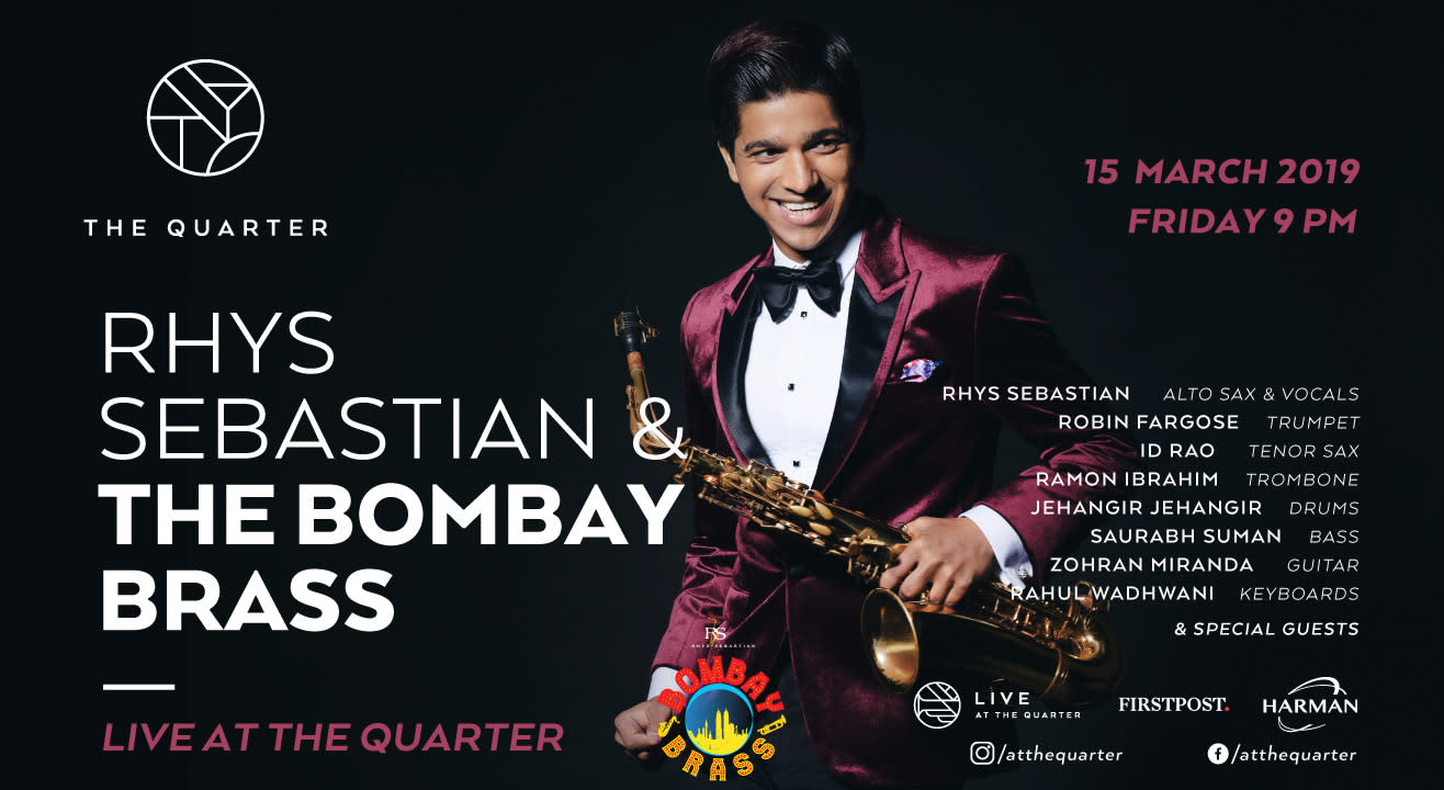 Rhys Sebastian and The Bombay Brass at The Quarter