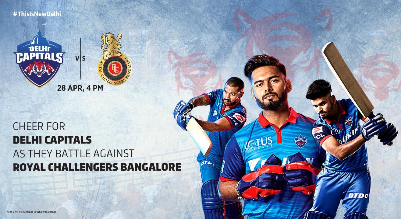 VIVO IPL 2019 - Match 46 - Delhi Capitals vs Royal Challengers Bangalore