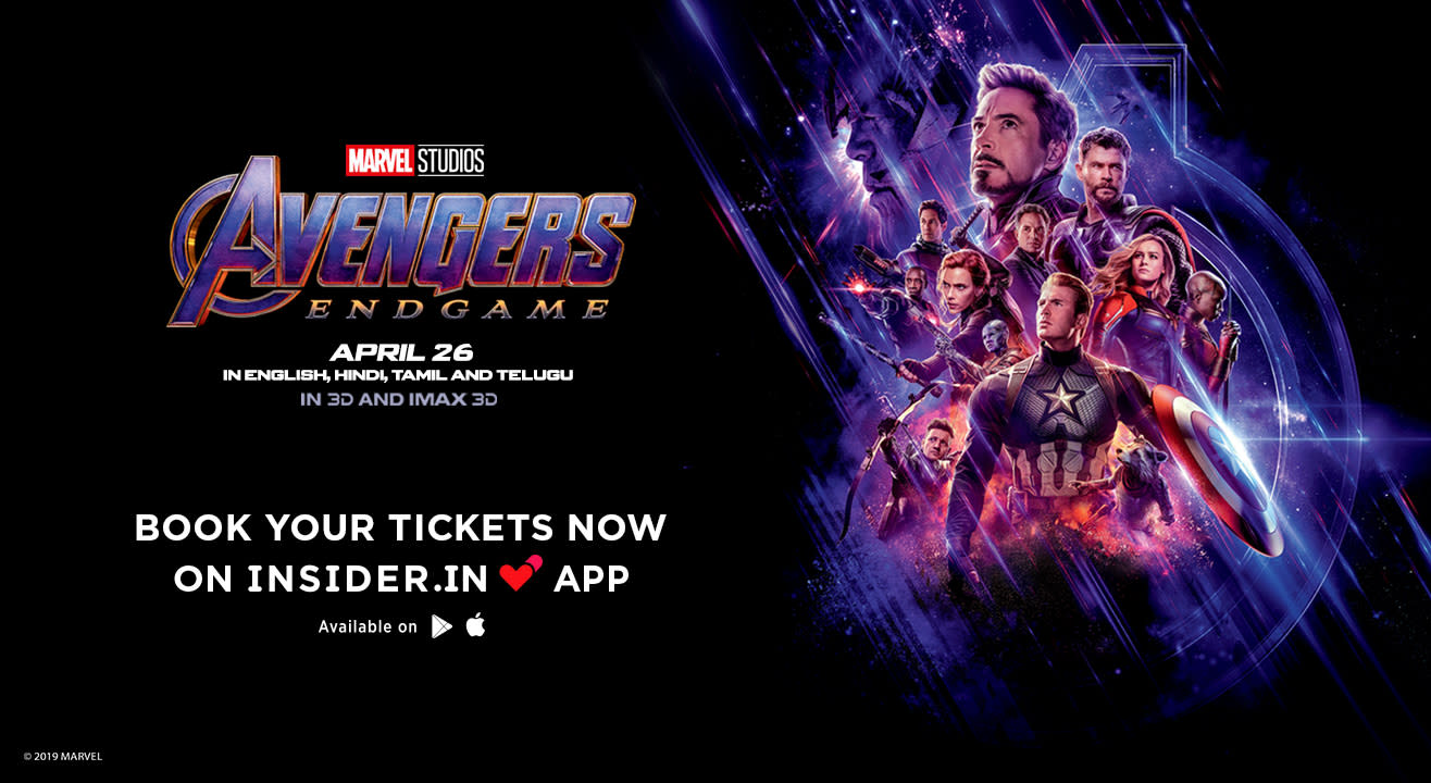 Avengers: Endgame tickets on Insider in App