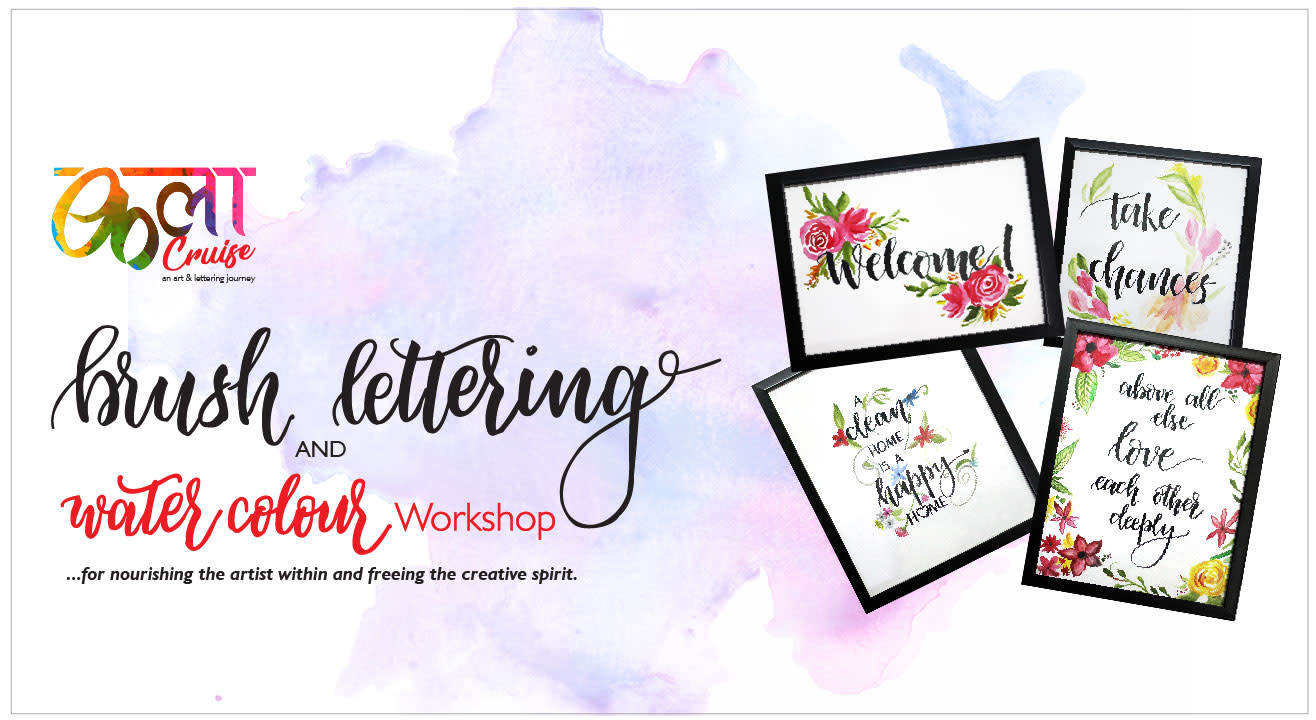 Brush Lettering and Water Colour Wokshop