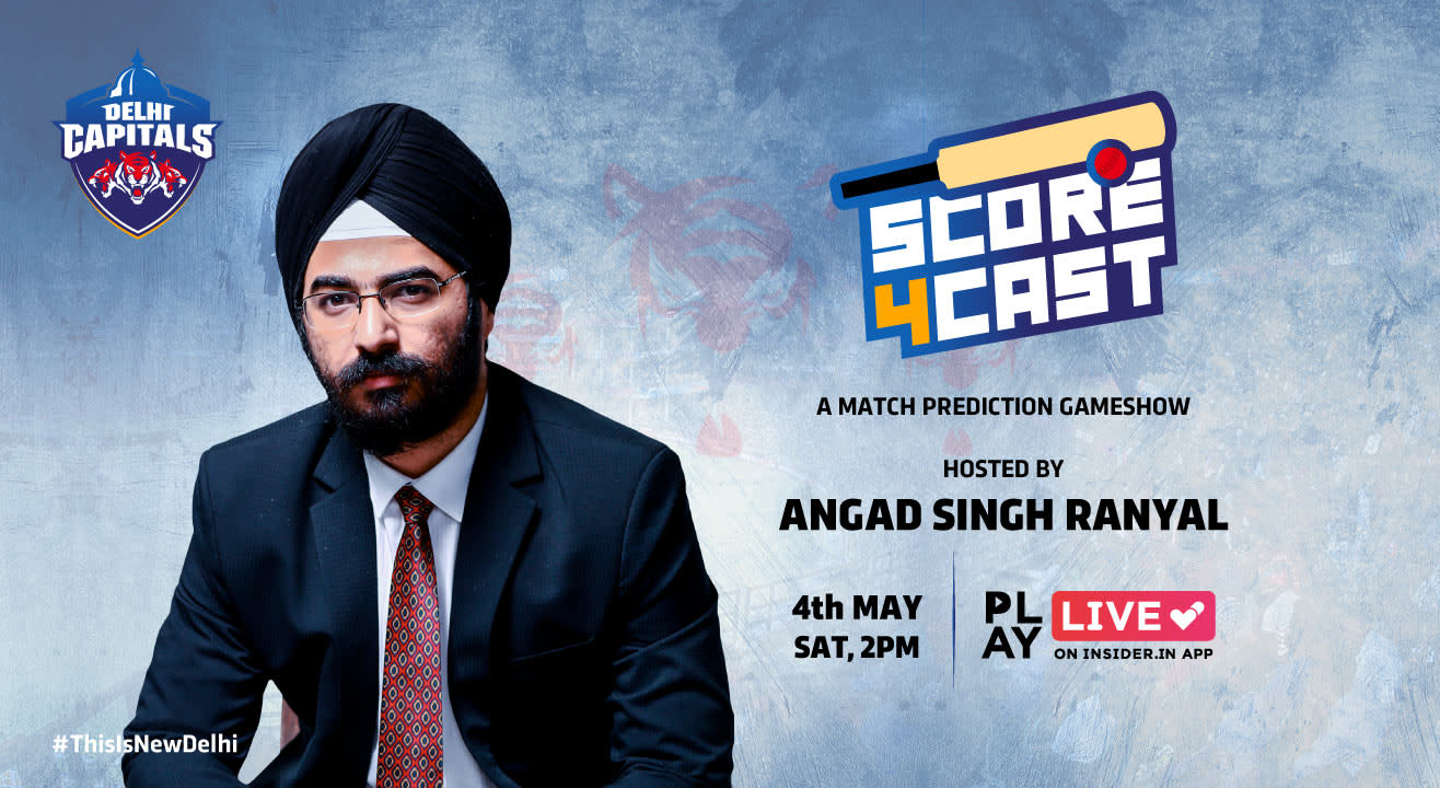 Score 4cast (Delhi Capitals): Play it live on Insider.in App