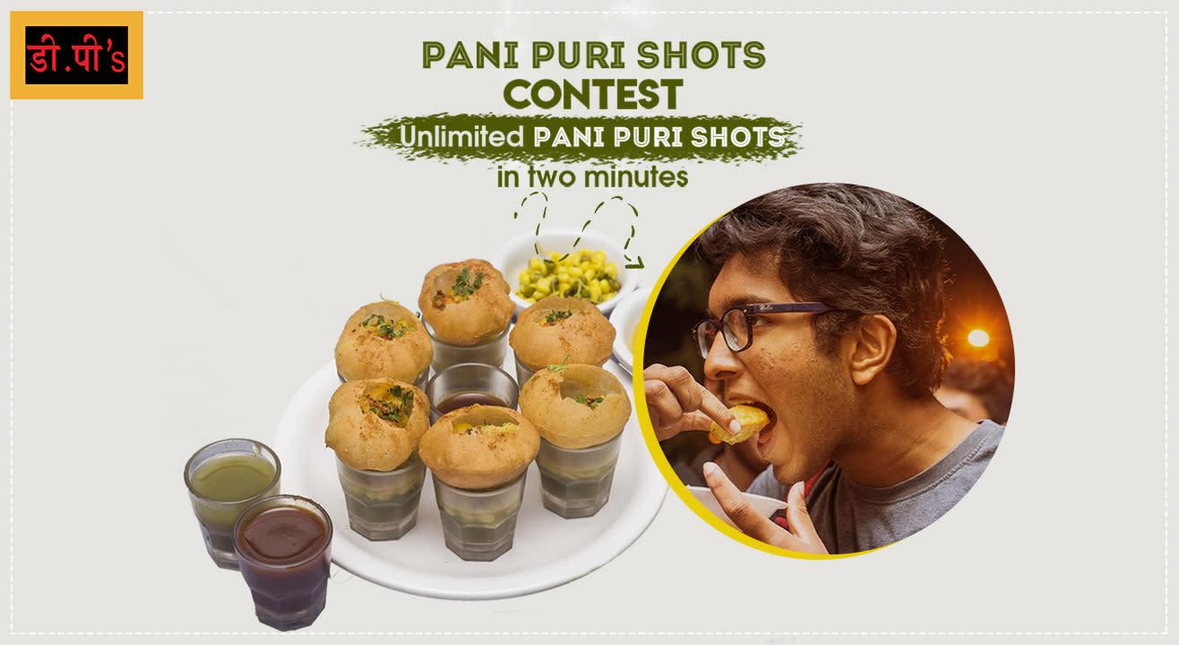 Pani Puri Shots Contest on DP's Fast Food Center