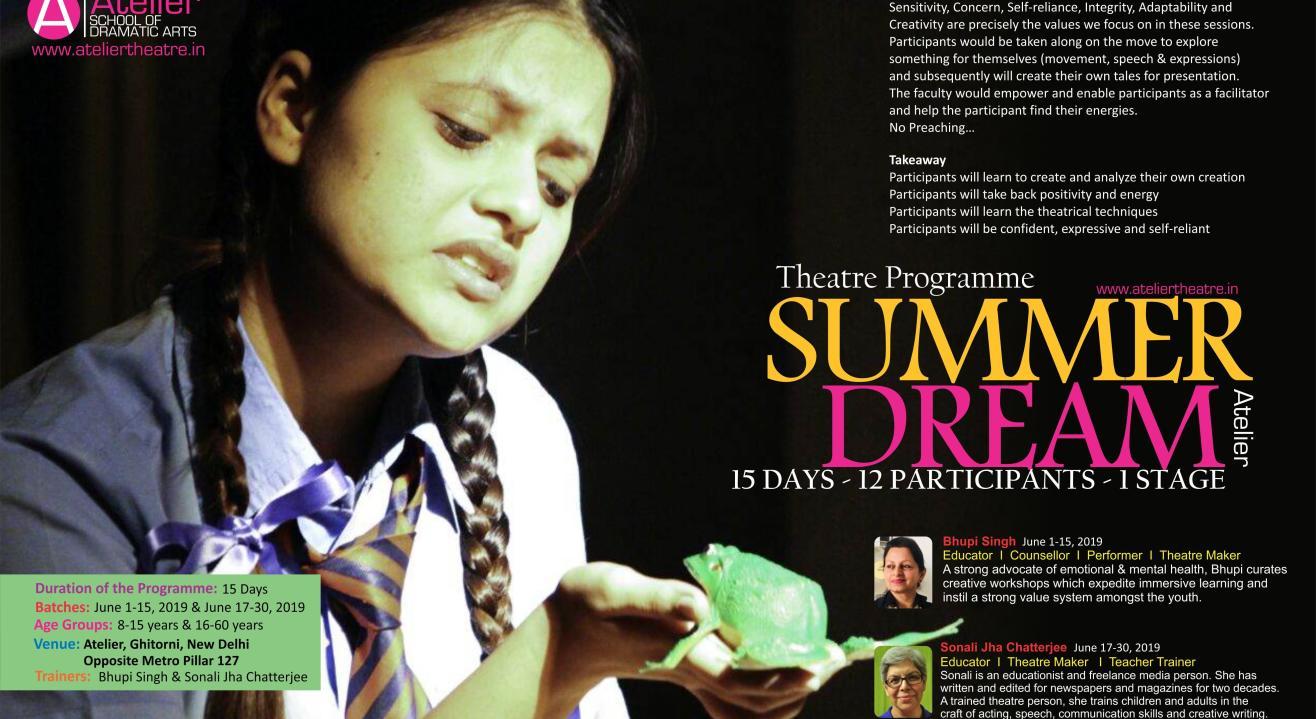 Atelier's Summer Dream Theatre Program