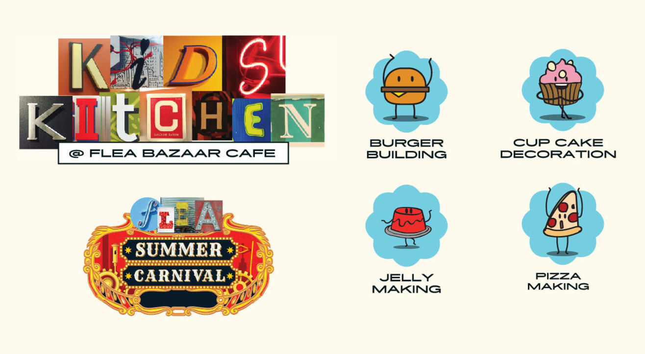 Kids Kitchen at Flea Bazaar Cafe Summer Carnival
