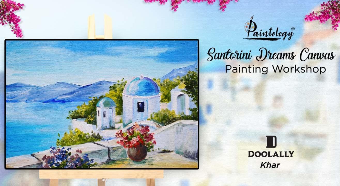 'Santorini Dreams' Canvas Painting Party – KHAR