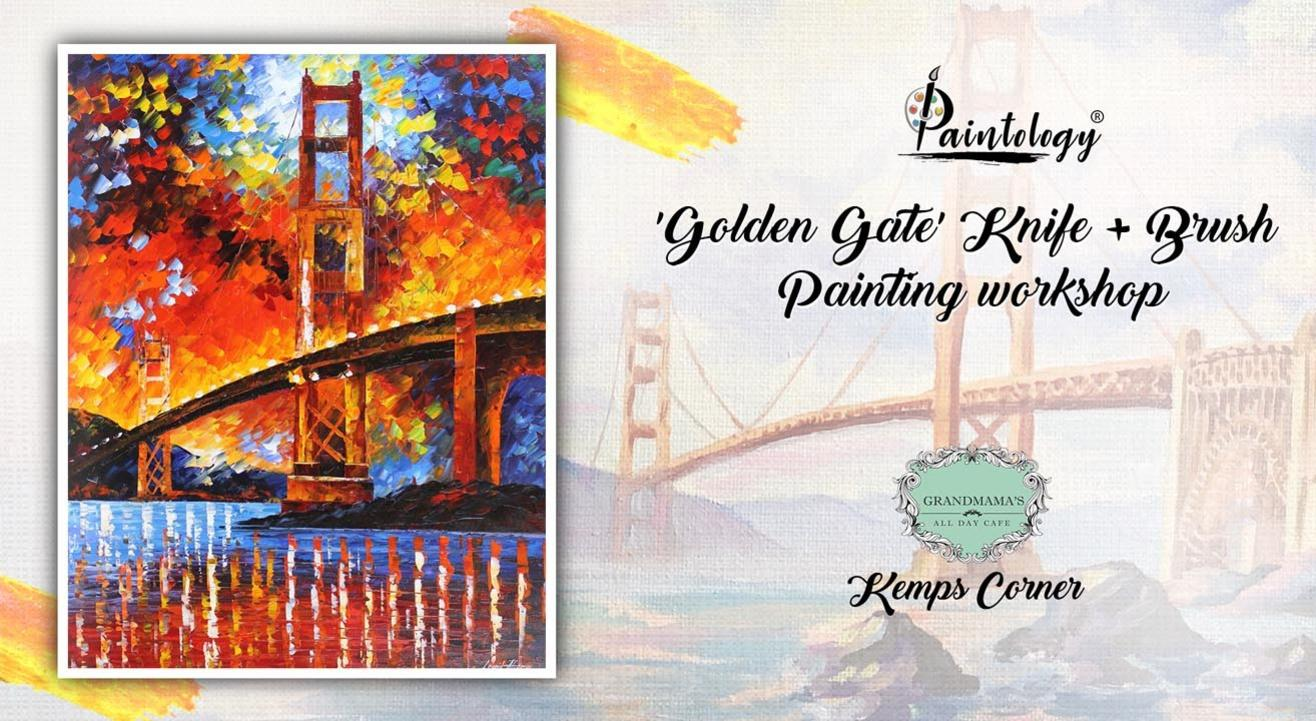 Golden Gate Bridge ' Knife + brush Painting workshop, Kemps Corner