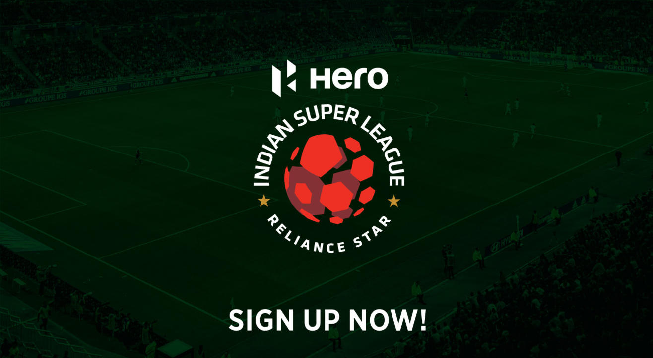 Sign up for updates to Hero Indian Super League 2019-20
