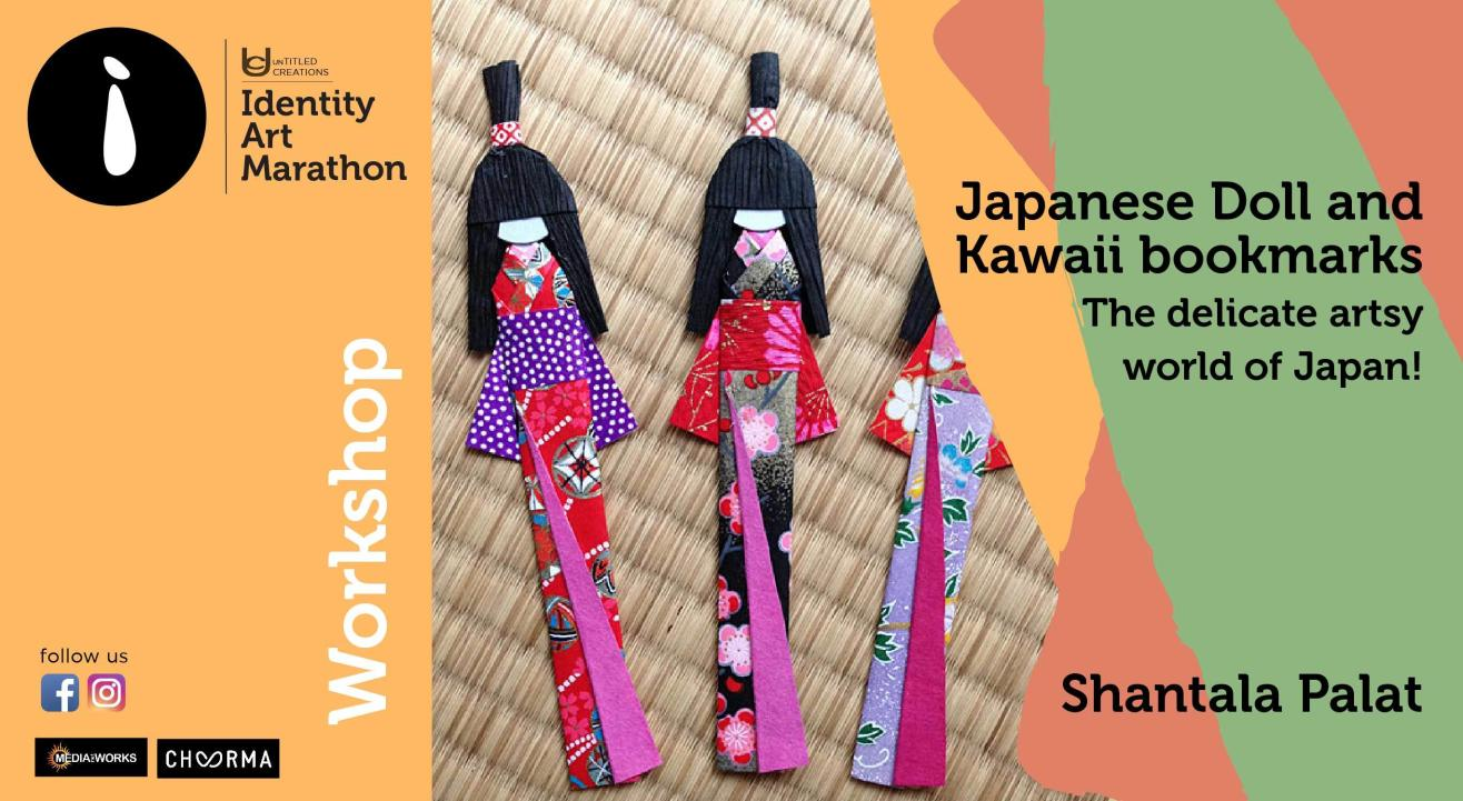 Japanese Doll and Kawaii Bookmarks workshop