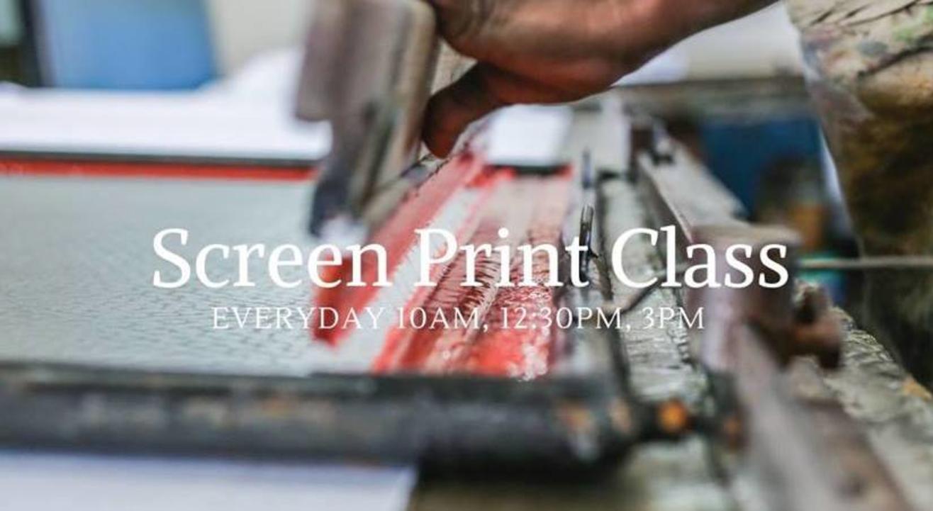 Screen Print Class