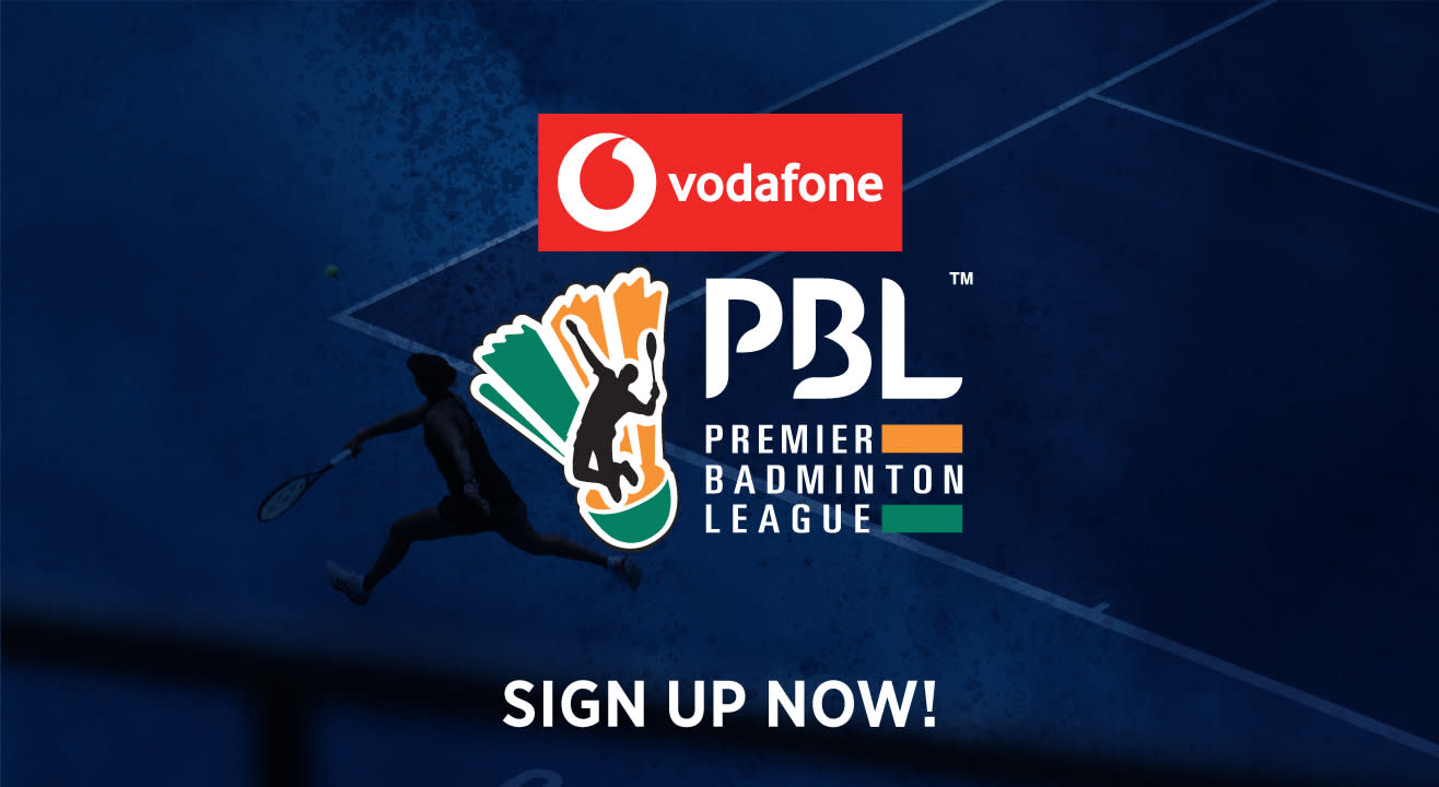 Sign up for updates on Vodafone Premier Badminton League 2019-20