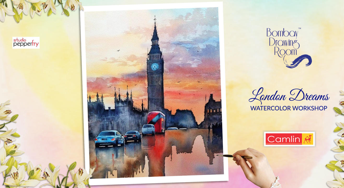 London Dreams Watercolor Workshop by Bombay Drawing Room
