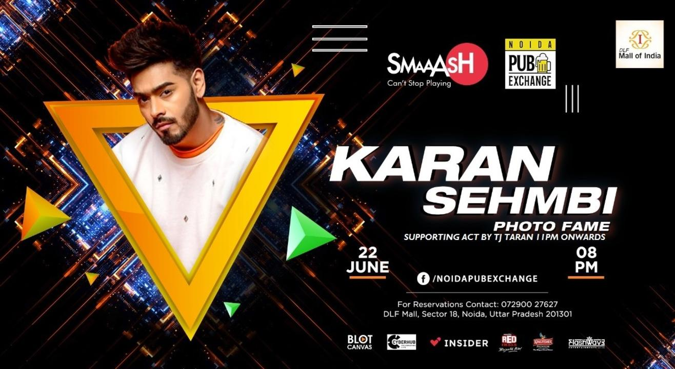 KARAN Sehmbi(Photo Fame) Live at Smaaash DLF MALL of INDIA NOIDA