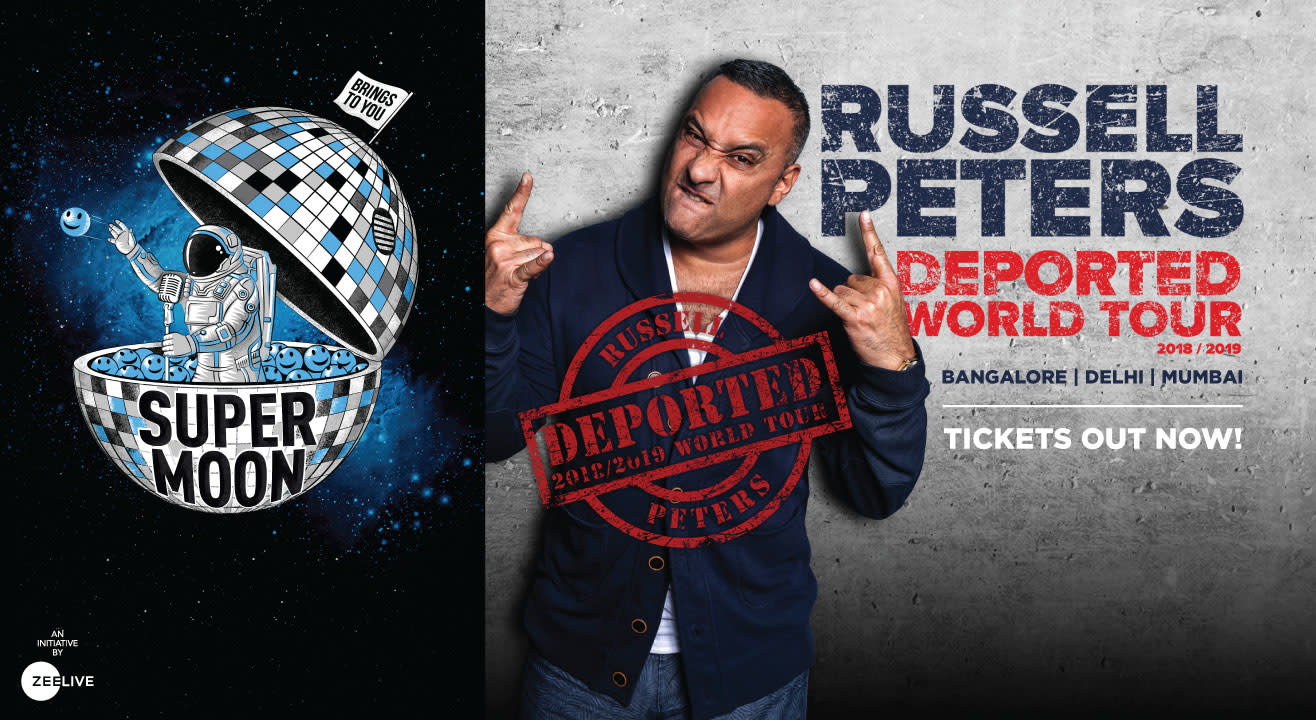 Famous funnyman Russell Peters - back in India!