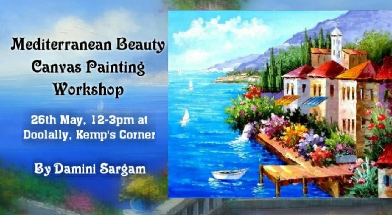 Mediterranean Beauty Canvas Painting Workshop