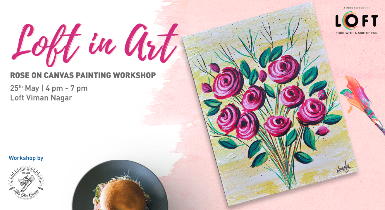 Rose on Canvas Painting Workshop