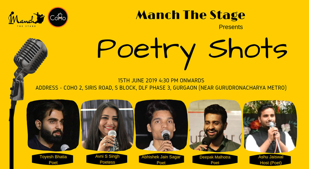 Poetry Shots by Manch The Stage | Best Poetry Line up for Delhi NCR