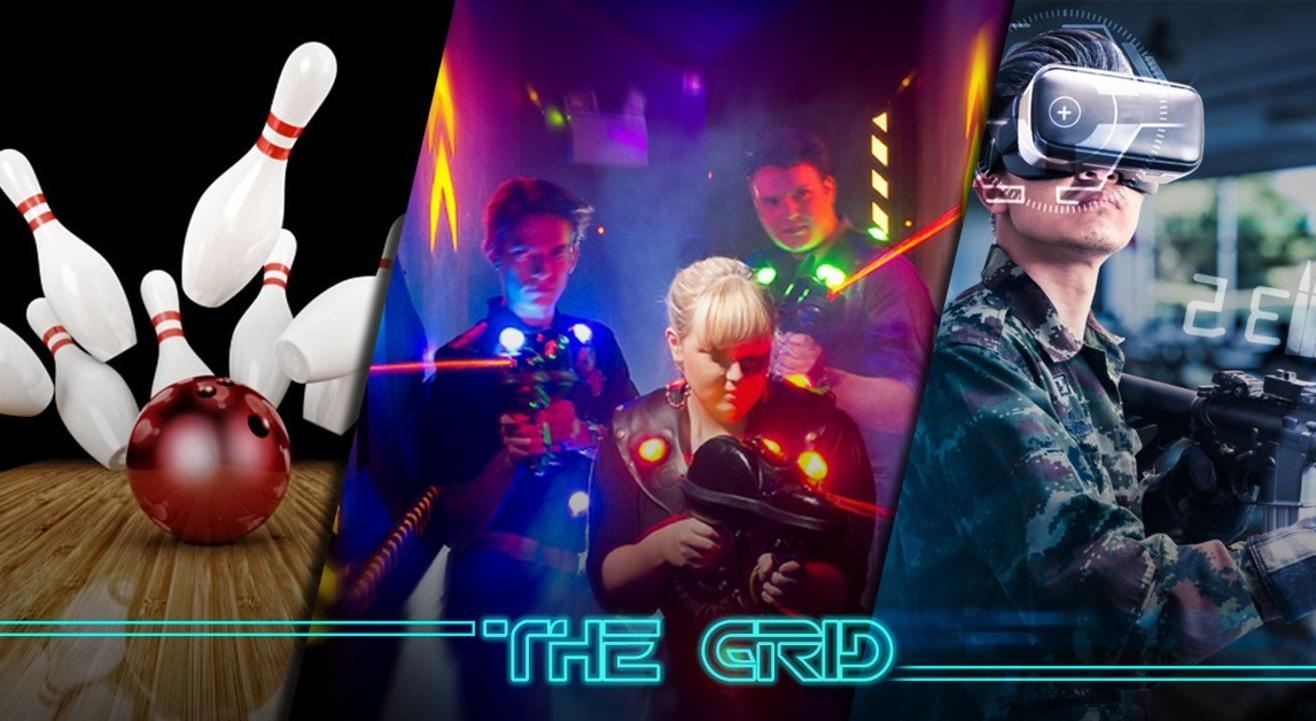 Bowling, Laser Tag and VR At The Grid