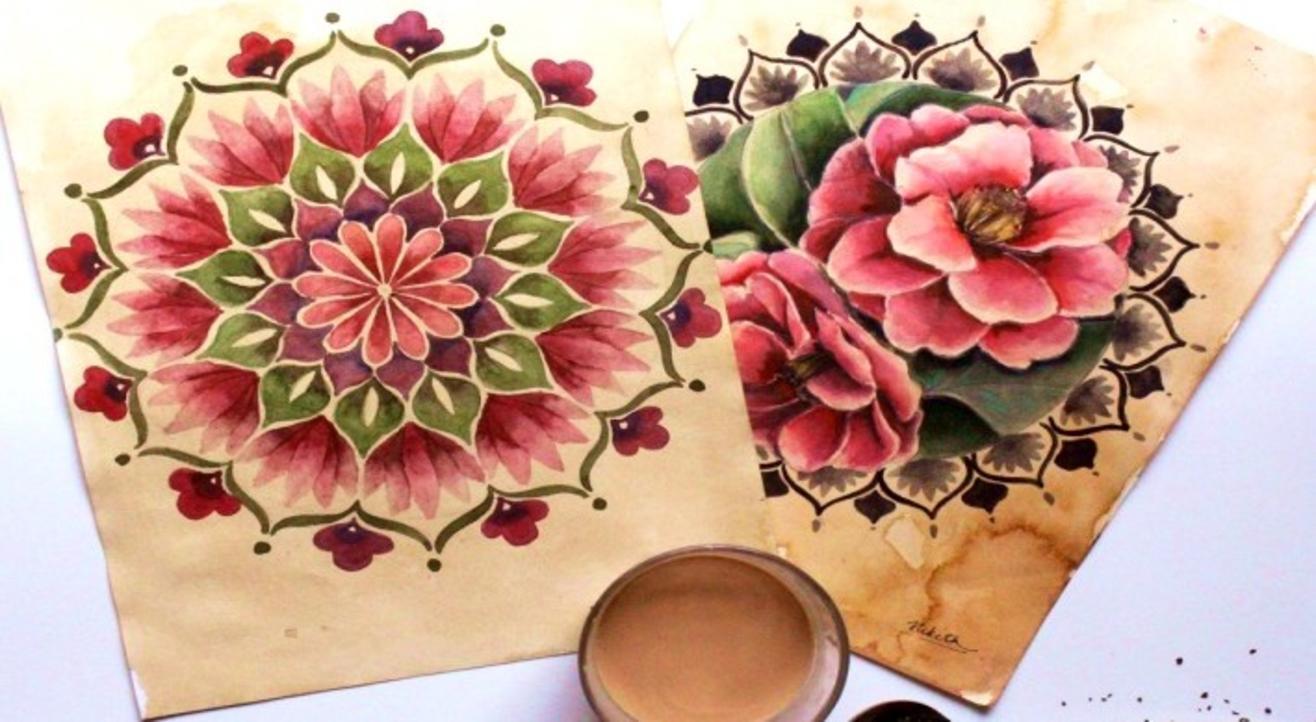 Vintage floral mandala workshop