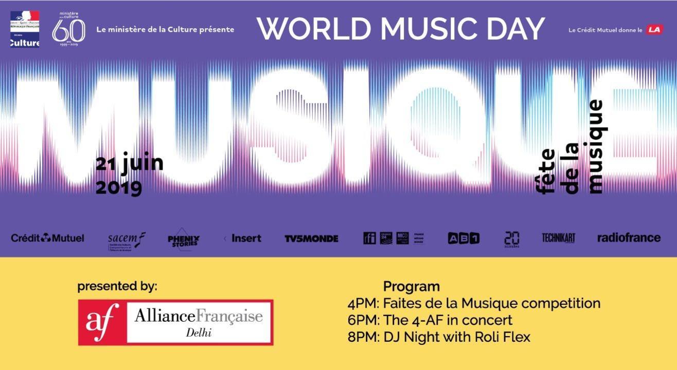 Fete de la Musique (World Music Day) 21 June 2019