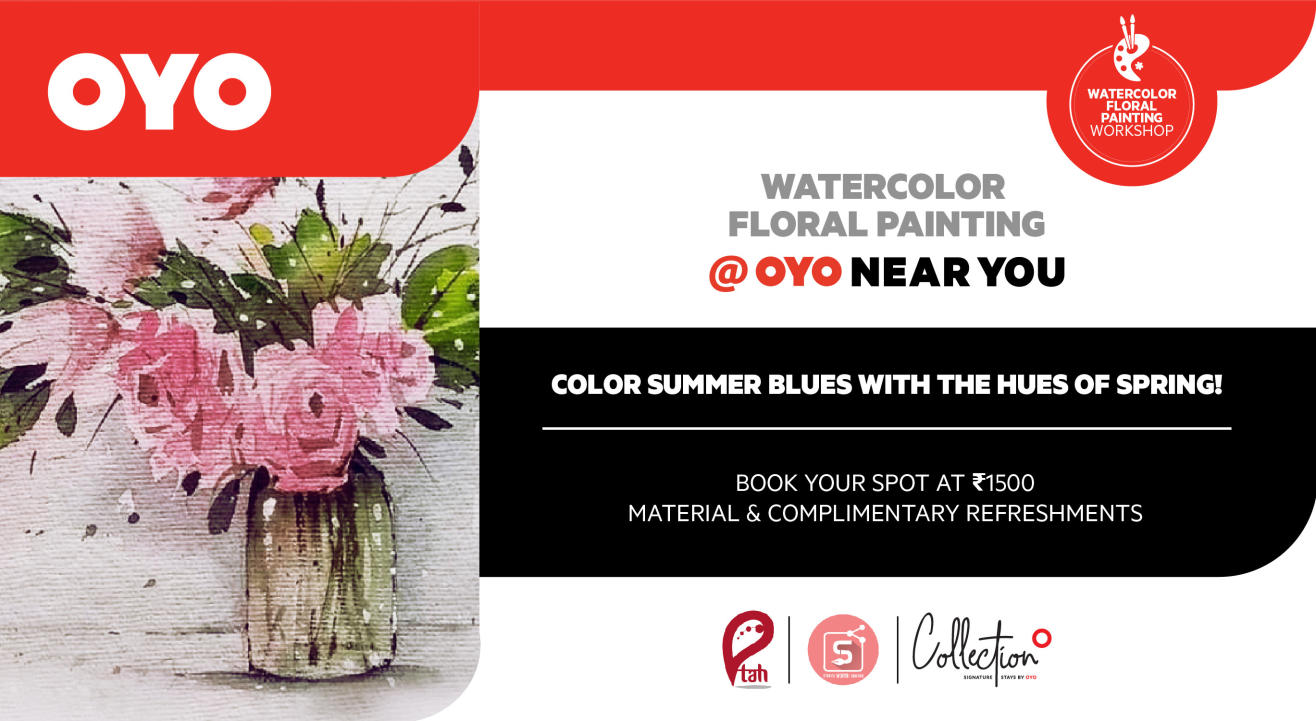 Watercolor Floral Painting Workshop @OYO Near You