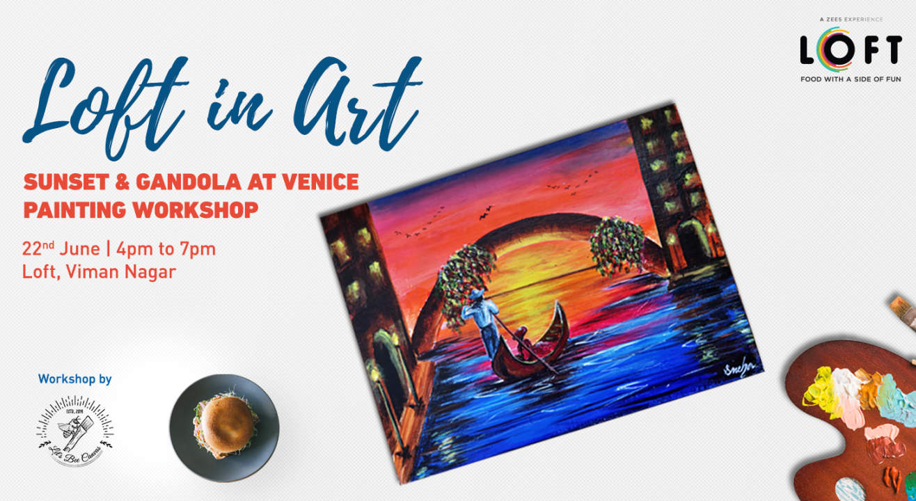 Sunset & Gandola at Venice Painting Workshop