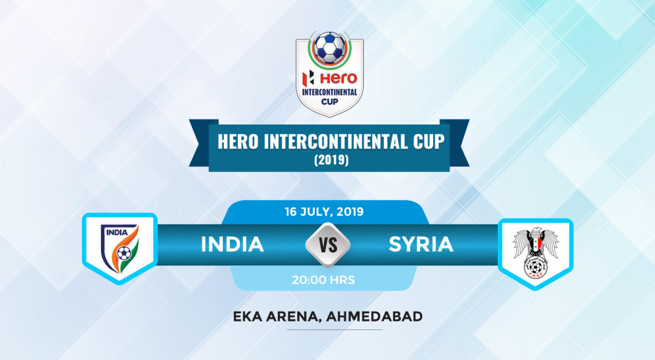 Hero Intercontinental Cup 2019 - India vs Syria